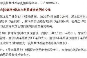 1传43哈尔滨集合性疫情跨省传达抚顺确诊病例与其有关